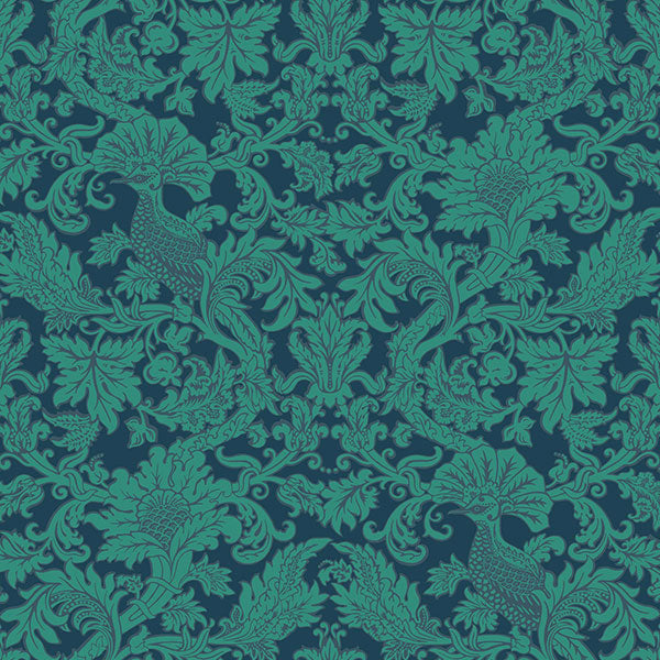 Cole & Son - Mariinsky Damask - Balabina in Midnight & Jade