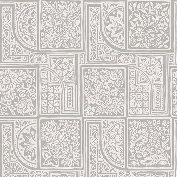 Cole & Son - Mariinsky Damask - Bellini in Grey & White