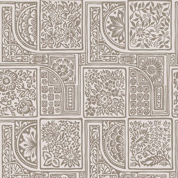 Cole & Son - Mariinsky Damask - Bellini in Stone & Gilver