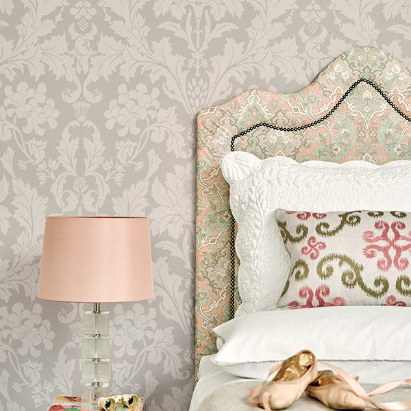 Cole & Son - Mariinsky Damask - Fonteyn in Stone