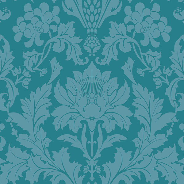 Cole & Son - Mariinsky Damask - Fonteyn in Teal
