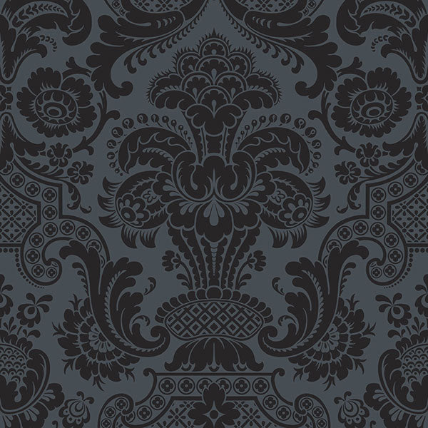 Cole & Son - Mariinsky Damask - Petrouchka in Charcoal