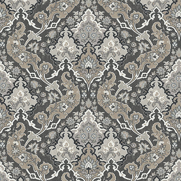 Cole & Son - Mariinsky Damask - Pushkin in Charcoal