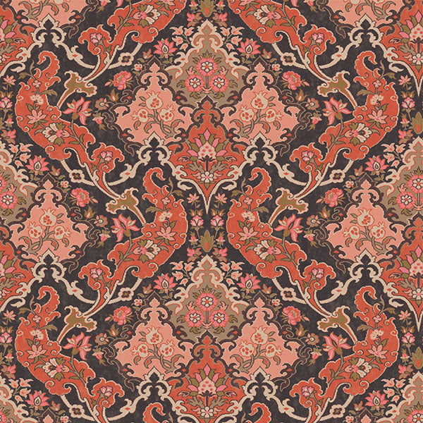 Cole & Son - Mariinsky Damask - Pushkin in Coral