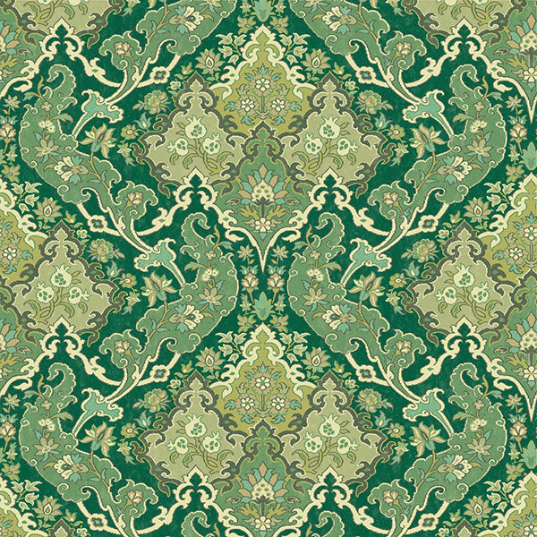 Cole & Son - Mariinsky Damask - Pushkin in Forest Green