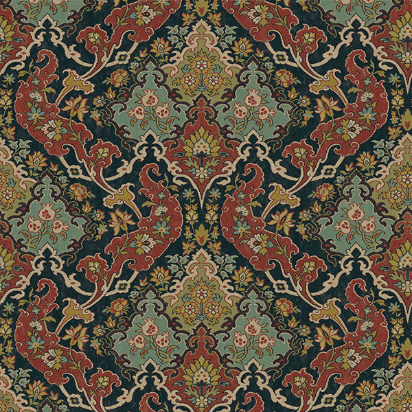 Cole & Son - Mariinsky Damask - Pushkin in Multi-Coloured