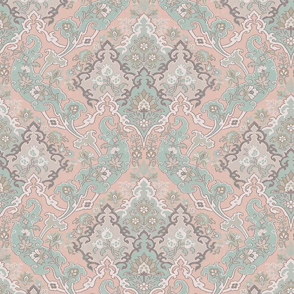 Cole & Son - Mariinsky Damask - Pushkin in Pastel Multi