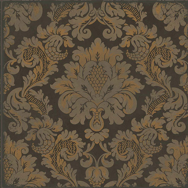Cole & Son - Mariinsky Damask - Stravinsky in Charcoal & Bronze