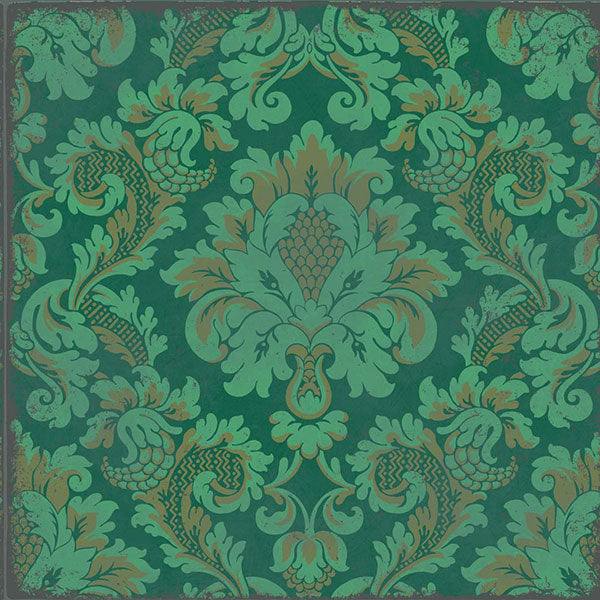 Cole & Son - Mariinsky Damask - Stravinsky in Green