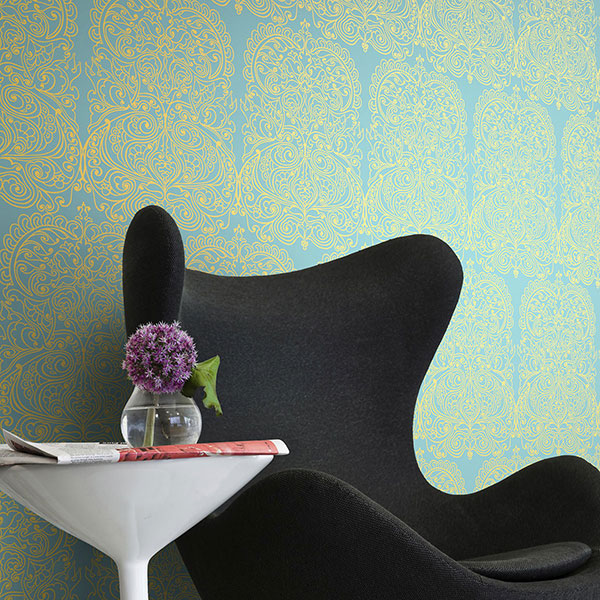 Cole & Son - New Contemporary II - Alpana in Gold & Aqua