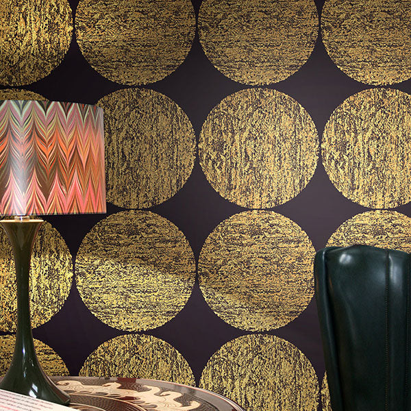 Cole & Son - New Contemporary II - Luna in Gold & Onyx