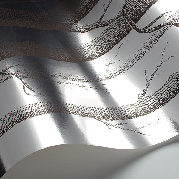 Cole & Son - New Contemporary II - Woods in Chocolate & Silver
