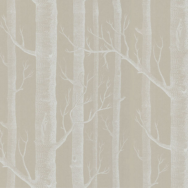 Cole & Son - New Contemporary II - Woods in White & Taupe