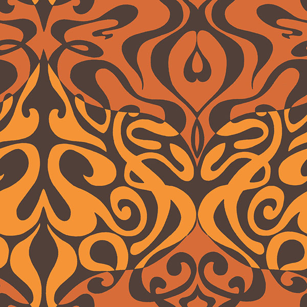 Cole & Son Wallpaper- New Contemporary II - Woodstock in Orange
