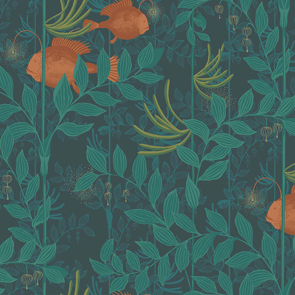 Cole & Son - Whimsical - Nautilus in Dark Green