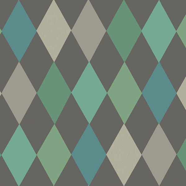 Cole & Son - Whimsical - Punchinello in Teal on Char