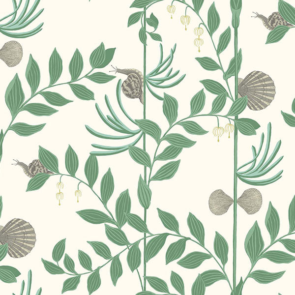 Cole & Son - Whimsical - Secret Garden in Dark Green Wallpaper