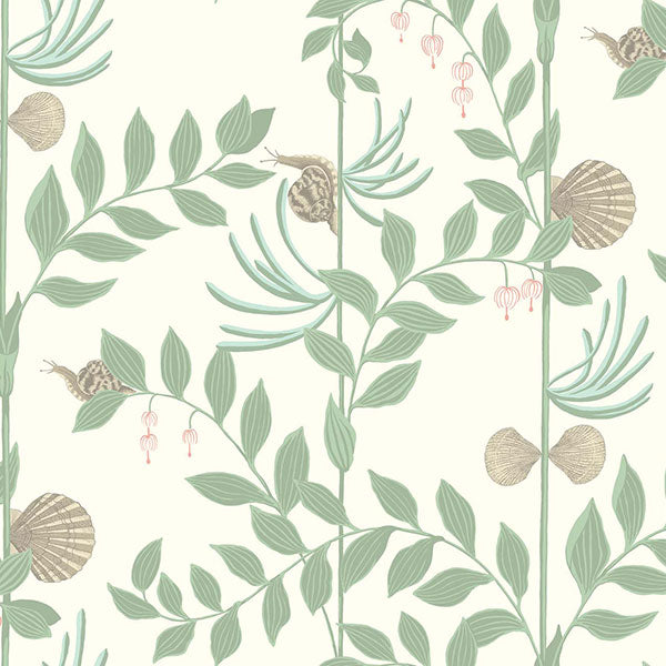 Cole & Son - Whimsical - Secret Garden in Soft Green Wallpaper