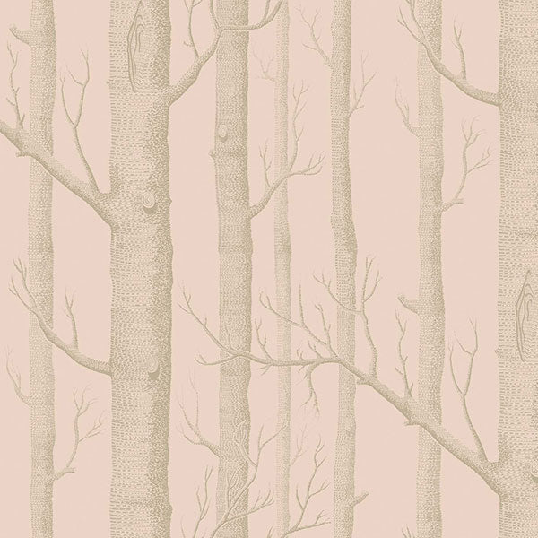 Cole & Son - Whimsical - Woods in Pink & Gilver