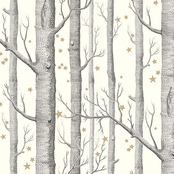 Cole & Son - Whimsical - Woods & Stars - Black & White