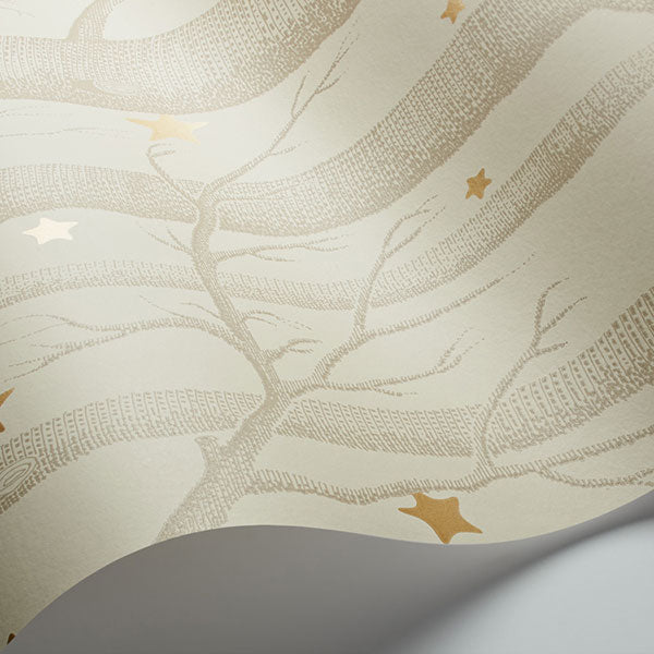 Cole & Son - Whimsical - Woods & Stars - Buff & Gold