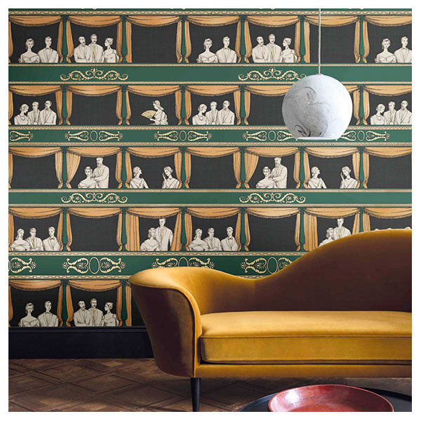 Cole & Son - Fornasetti Teatro - Racing Car Green