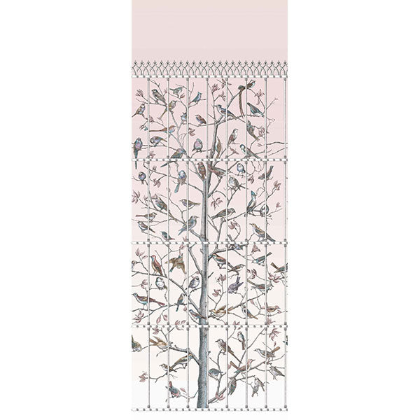 Cole & Son - Fornasetti Uccelli - Ballet Slipper Pink
