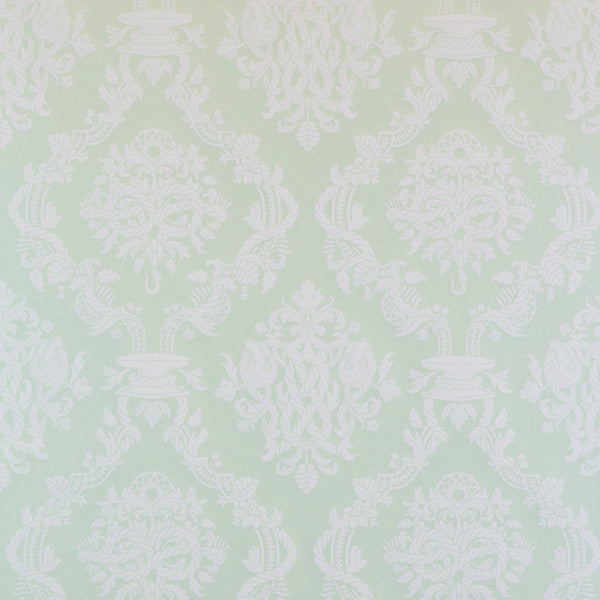 Cordage - Shamrock on Ivory Clay Coated Paper Wallpaper by Flavor Paper - Vertigo Home