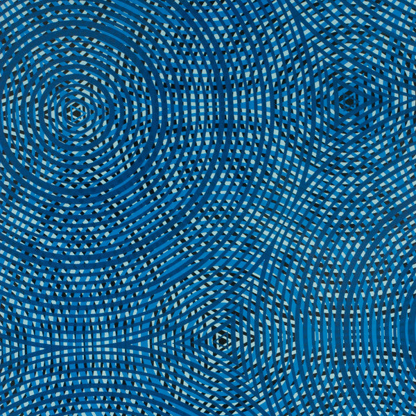 Cycloid - Blueberry on Black Mylar Wallpaper by Flavor Paper - Vertigo Home