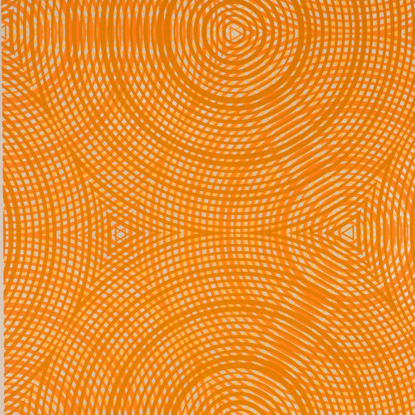 Cycloid - Sweet Potato on Silver Mylar Wallpaper by Flavor Paper - Vertigo Home