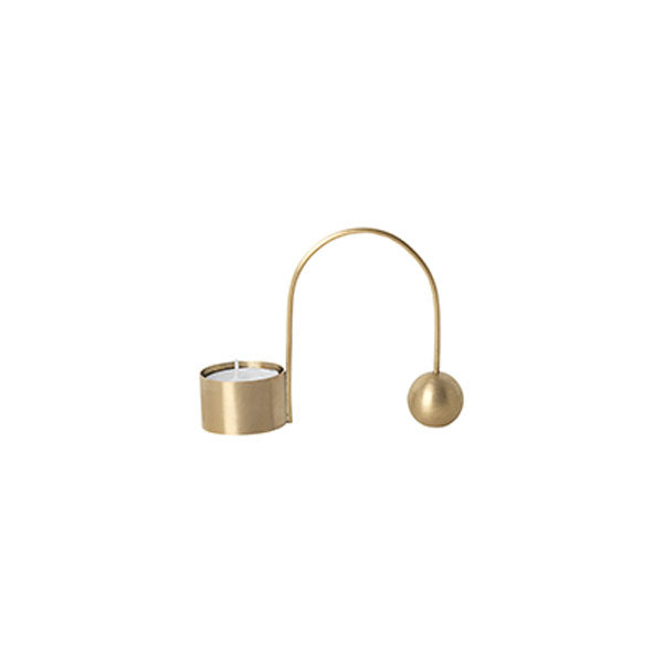 Balance Tealight Holder Brass by Ferm Living