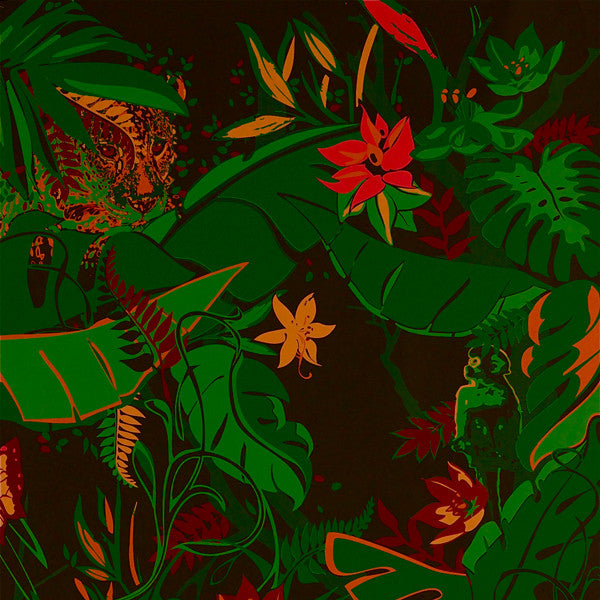 Feroz - Jungle Fever on Ebony Clay Coated Paper Wallpaper by Flavor Paper - Vertigo Home