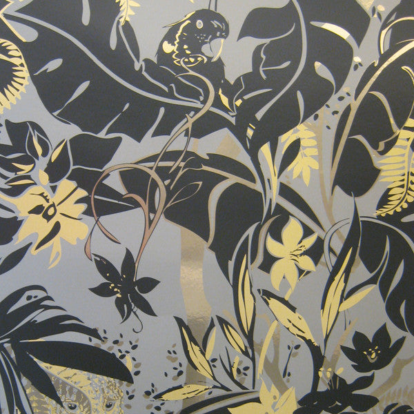 Feroz - Ore on Matte Gold Mylar Wallpaper by Flavor Paper - Vertigo Home