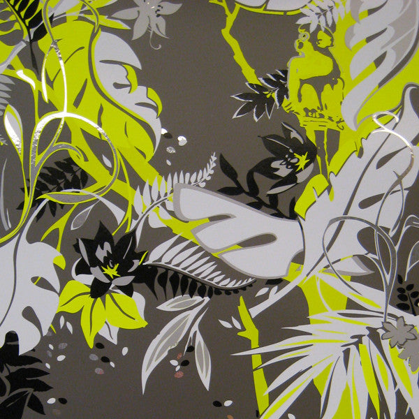 Feroz - Yellow Fury on Chrome Mylar Wallpaper by Flavor Paper at www.vertigohome.us