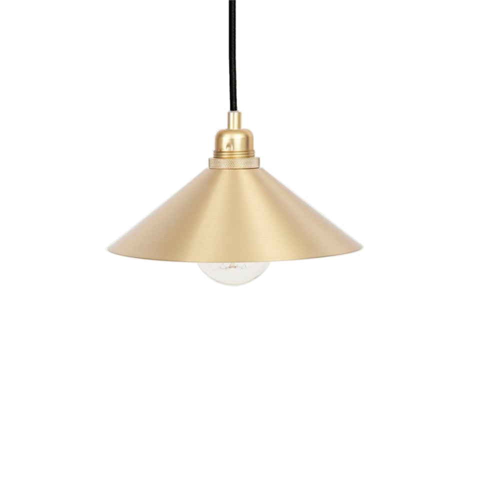 Cone Shade Pendant Lamp Brass by Frama