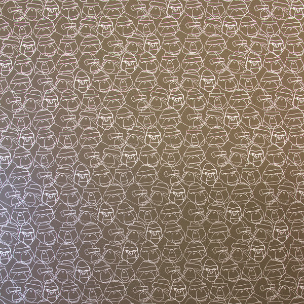 Gorillion - Graphite on Silver Mylar Wallpaper by Flavor Paper - Vertigo Home