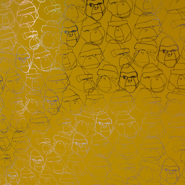 Gorillion - Lemon on Bright Gold Mylar Wallpaper by Flavor Paper - Vertigo Home