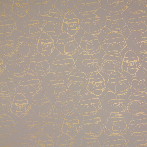 Gorillion - Sand on Matte Gold Mylar Wallpaper by Flavor Paper - Vertigo Home