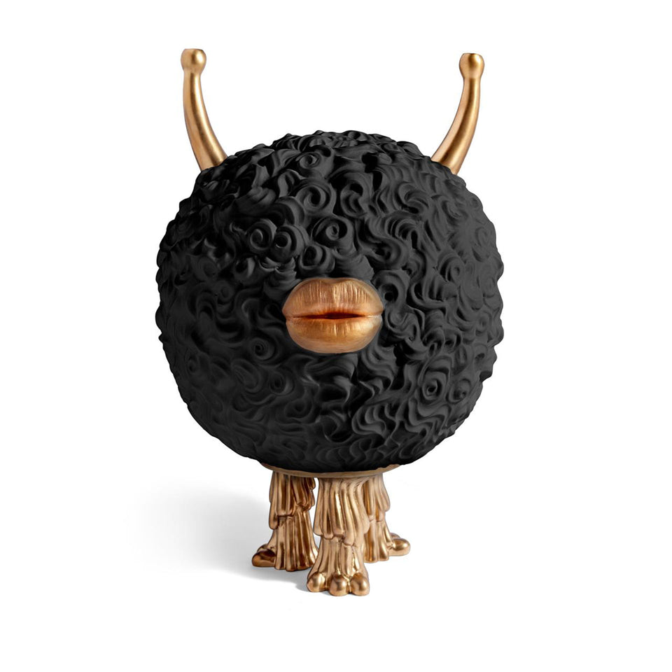 Monster Incense Burner in Black + Gold by Haas Brothers + L'Objet