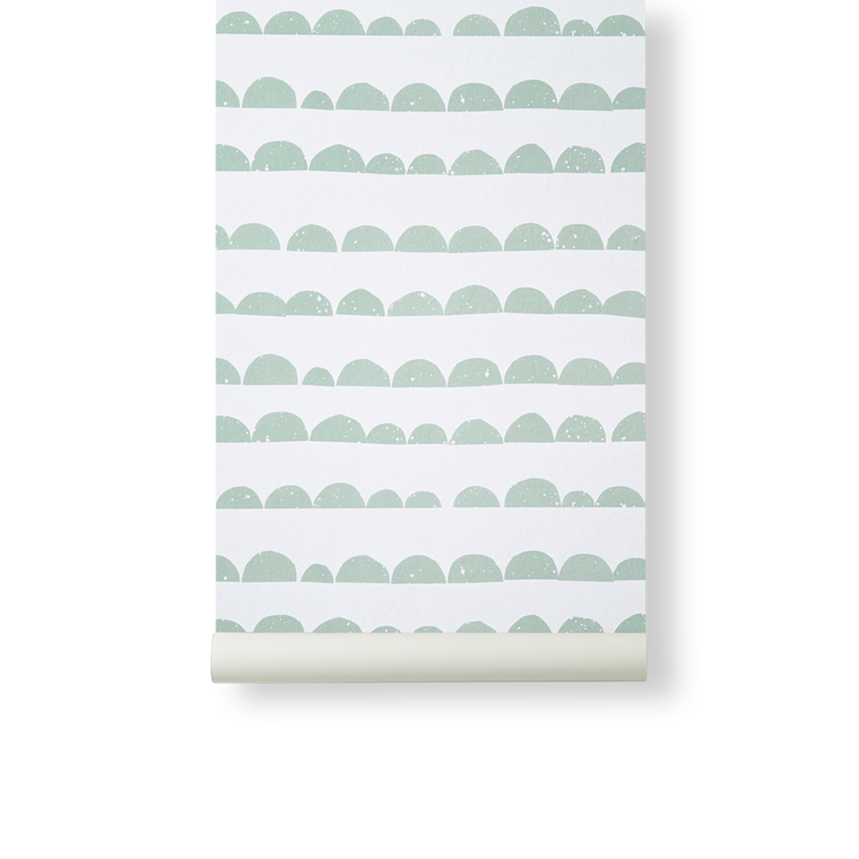 Half Moon Wallpaper - Mint by Ferm Living