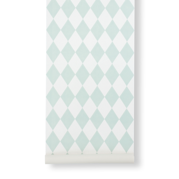 Harlequin Wallpaper - Mint - by Ferm Living