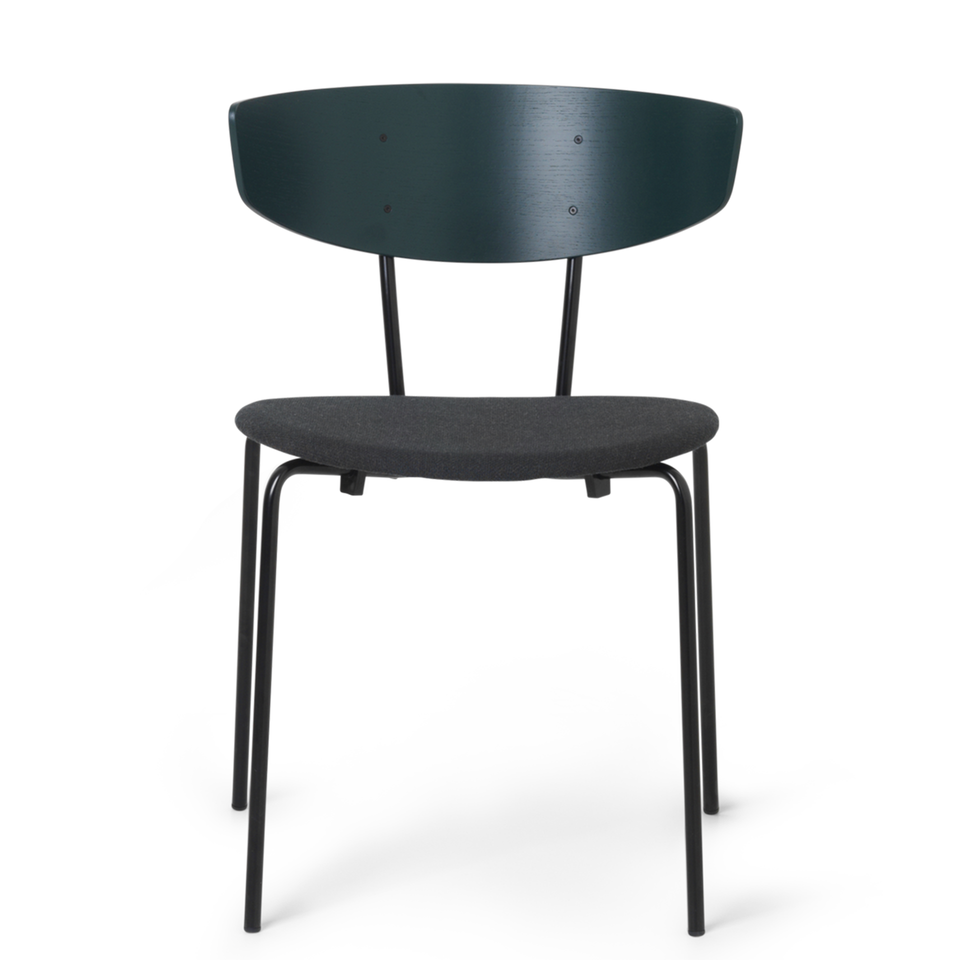 Herman Chair Dark Green / Dark Green Fabric Seat by Ferm Living