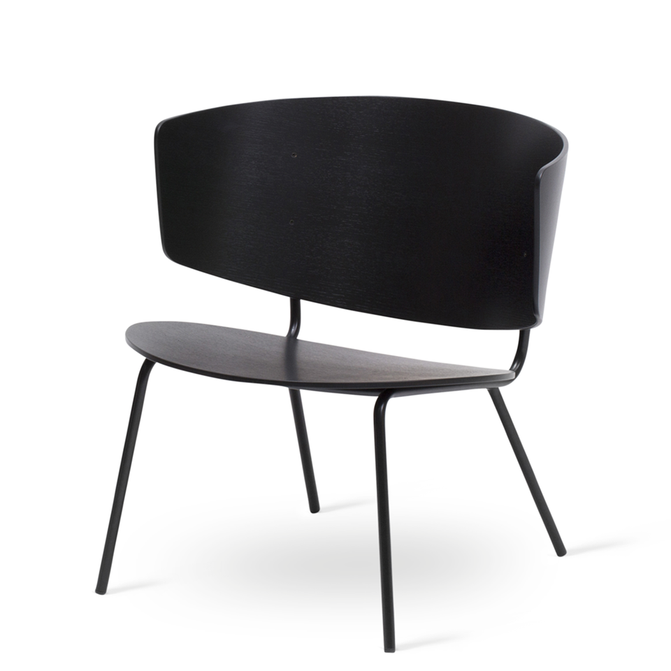 Herman Lounge Chair Black by Ferm Living