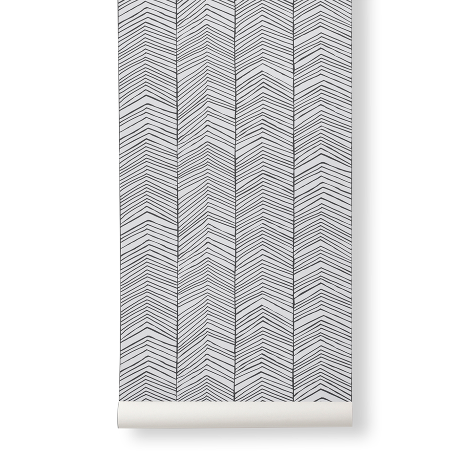 Herringbone Wallpaper by Ferm Living