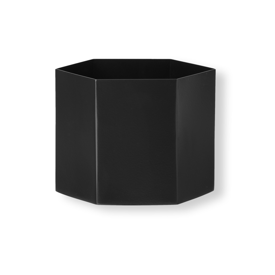 Hexagon Pot Extra Large - Black by Ferm Living
