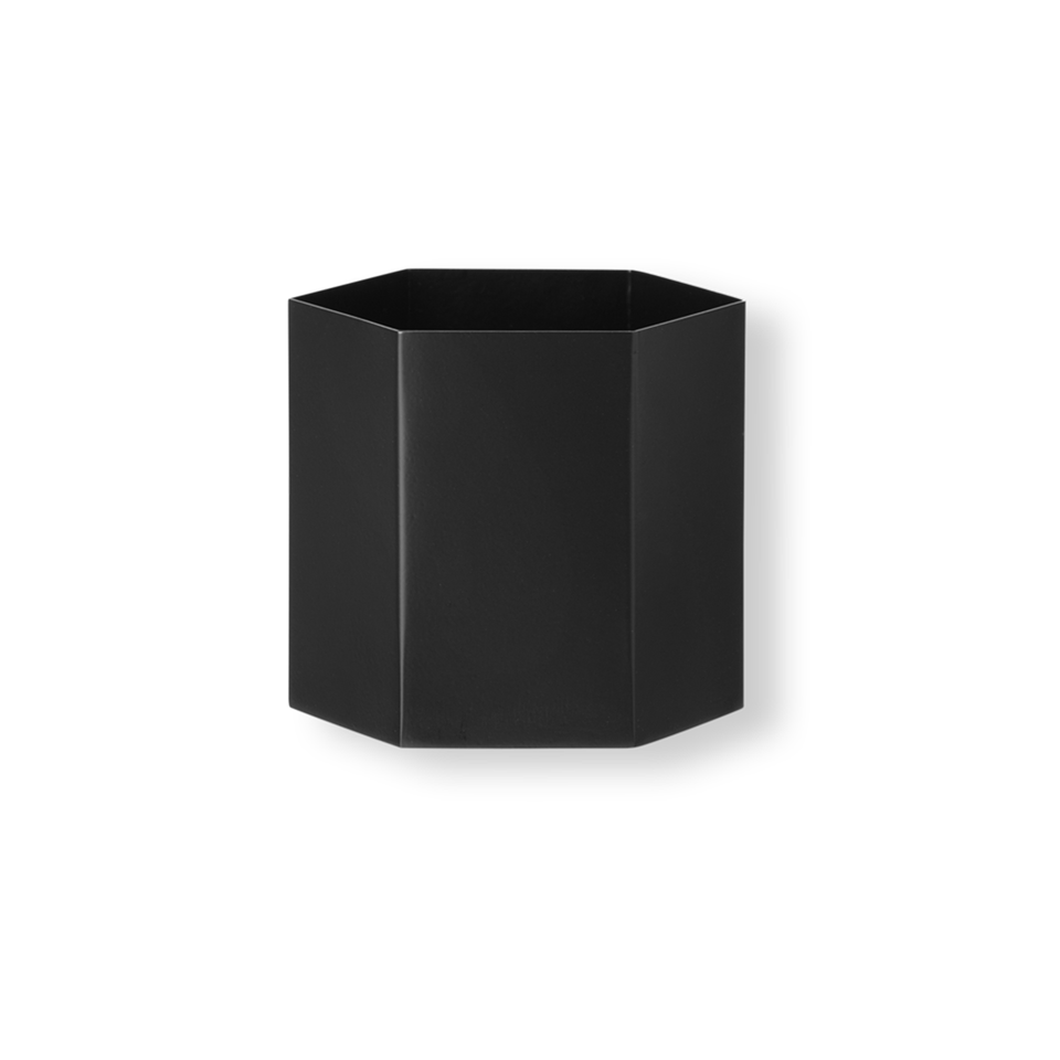 Hexagon Pot Large - Black by Ferm Living