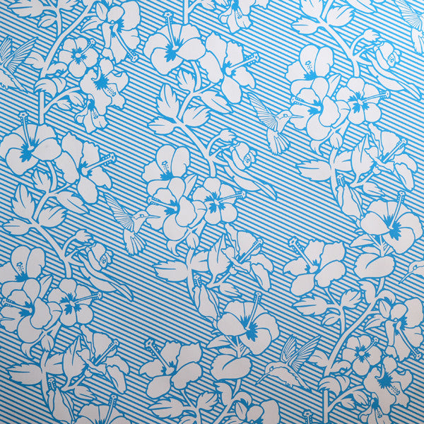 Hibiscus - Tastemaker on Ivory Clay Coated Paper Wallpaper by Flavor Paper - Vertigo Home