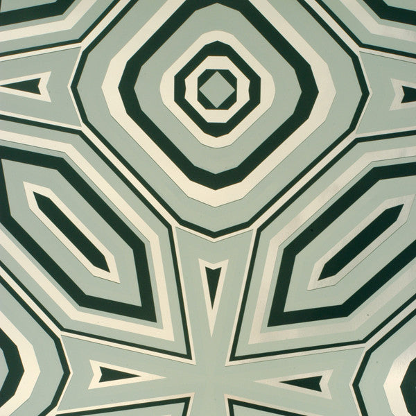 Highway 66 - Sage on Silver Mylar Wallpaper by Flavor Paper - Vertigo Home
