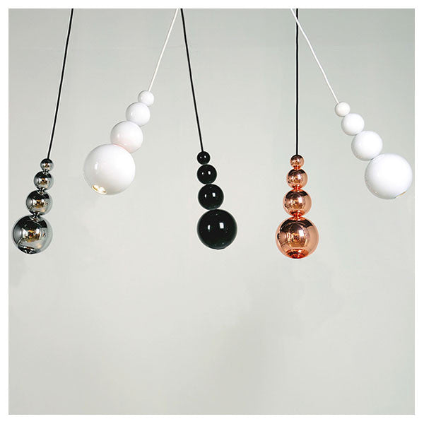 Bubble Pendant Light Black & Copper by Steve Jones for Innermost