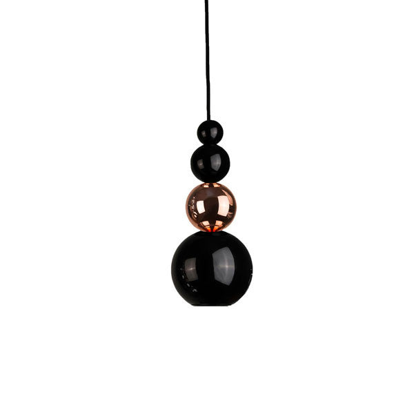 Bubble Pendant Light Black & Copper by Steve Jones for Innermost - Vertigo Home